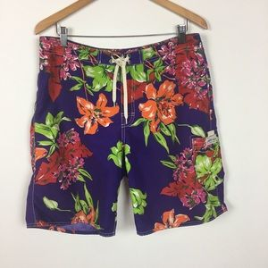 Polo Ralph Lauren Floral Swim Trunks Shorts Sz 32